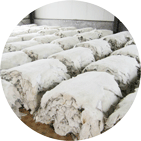 semi-finished sheepskin materials for garments and shoes