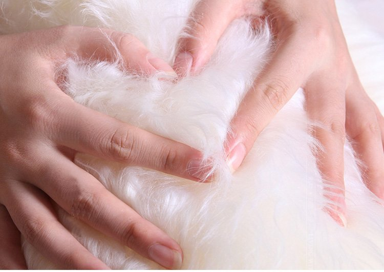 All Yixing's sheepskin products are selected from best Australian sheepskin with tense wool